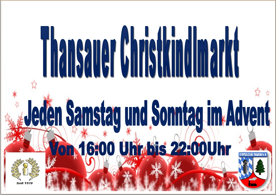 Thansauer Christkindlmarkt Homepage 2016